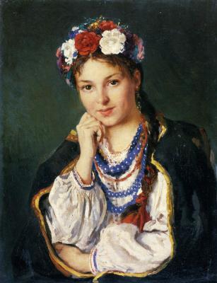 Владимир Егорович Маковский. Украинская девушка