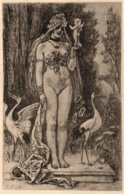 Felicien Rops. The plot 11