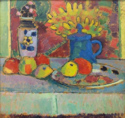 Alexey Georgievich Yavlensky. Still life with flowers and fruit. ок1910