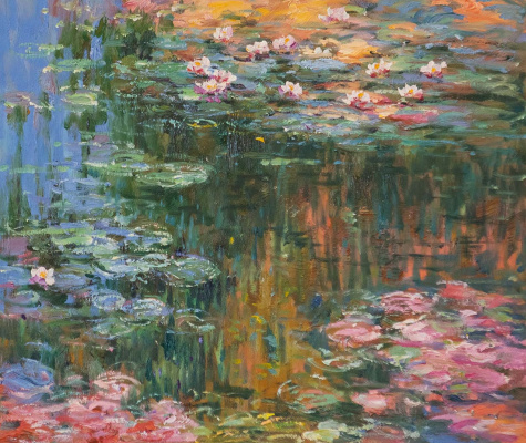 Savely Kamsky. Water Lilies, N22, a copy of Claude Monet's painting