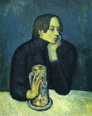 Pablo Picasso. The Glass of Beer (Portrait of the Poet Sabartés)