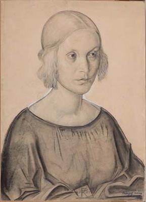Konstantin Ivanovich Rudakov. Portrait of the wife