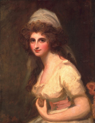 George Romney. Emma Hart, later Lady Hamilton, in a white turban