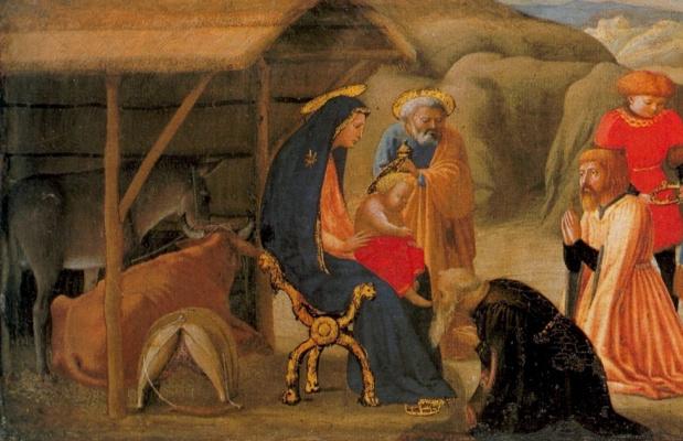 Tommaso Masaccio. Adoration of the Magi. Predella fragment of the Pisa polyptych