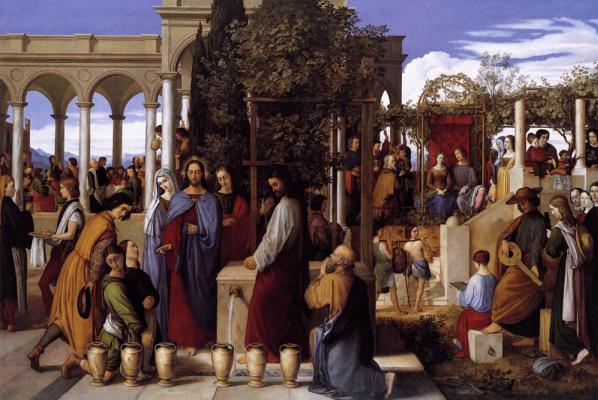 Julius Schnorr von Karolsfeld. The wedding feast at Cana