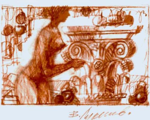Владимир Сергеевич Лукьянов. Из «Античного альбома» (лист 21).