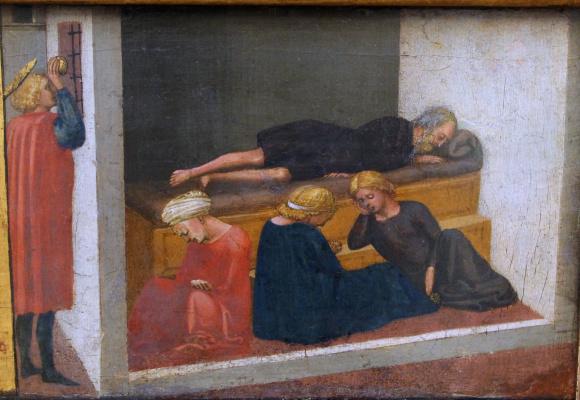 Tommaso Masaccio. Life of St. Nicholas. Pizansky polyptych
