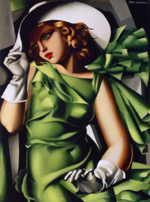 Tamara Lempicka. Girl in gloves