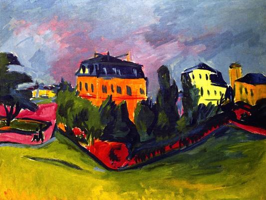 Erich Heckel. View of Dresden