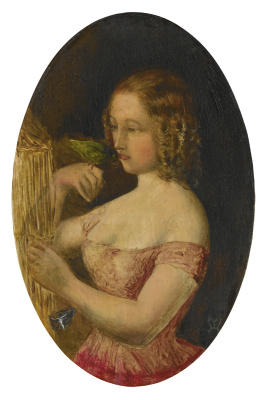 Girl with a bird
