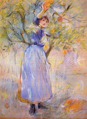Berthe Morisot. A picking oranges