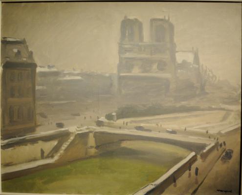 Albert Marquet. Notre Dame de Paris in the snow.
