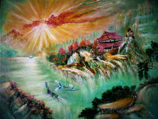 Olga evgen'evna manchneva. Chinese motifs
