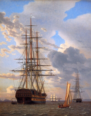 Кристофер Вильгельм Эккерсберг. Русский линейный корабль