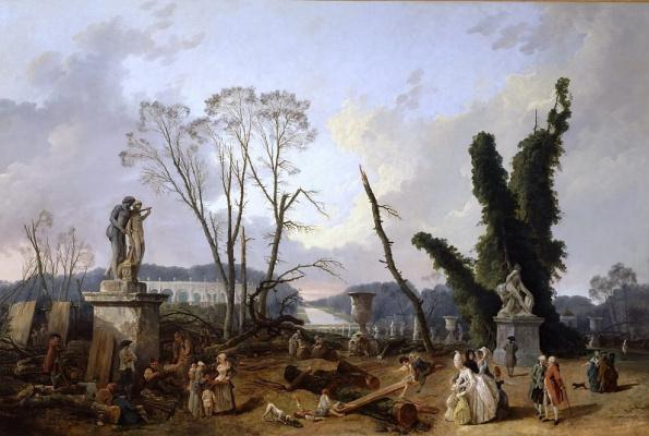 Юбер Робер. Вход в сады Версаля