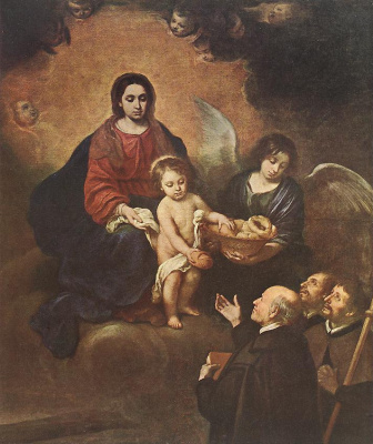 Bartolomé Esteban Murillo. Bread to pilgrims (detail)