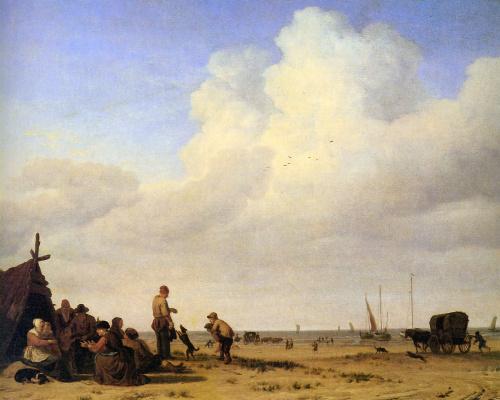 Адриан ван де Вельде. Береговая сцена