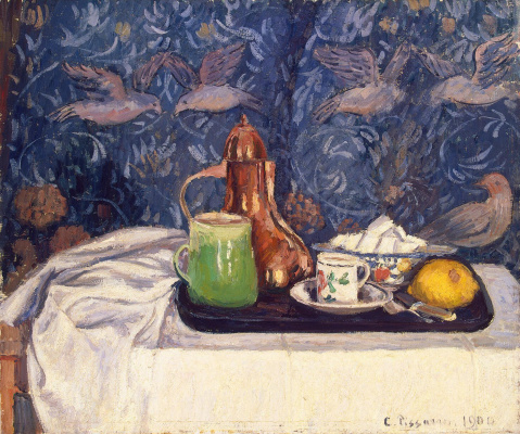 Camille Pissarro. Still life with coffee pot