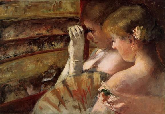 Mary Cassatt. In the corner of the box