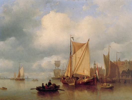 Эверхардус Костер. Корабли в Амстердаме