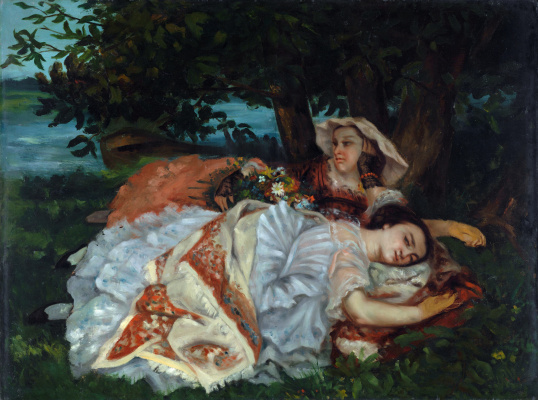 Gustave Courbet. Young ladies on the banks of the Seine