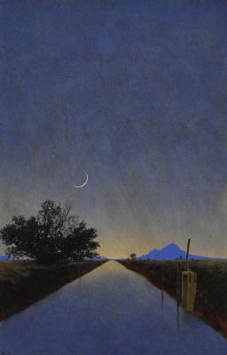 Maxfield Parrish. Spring New Moon in Arizona
