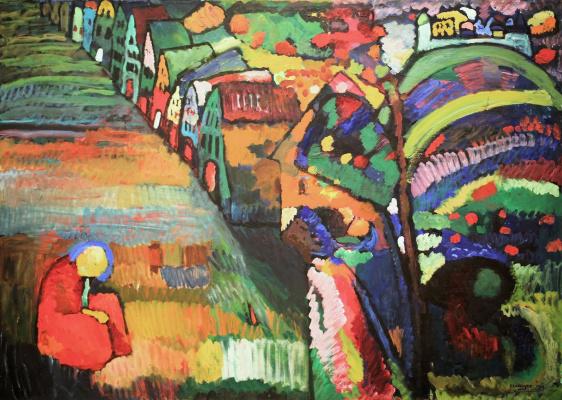 Wassily Kandinsky. Bild mit Häusern