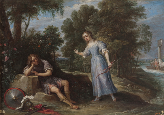 David Teniers the Younger. Rinaldo and Armida on the island of Orontes