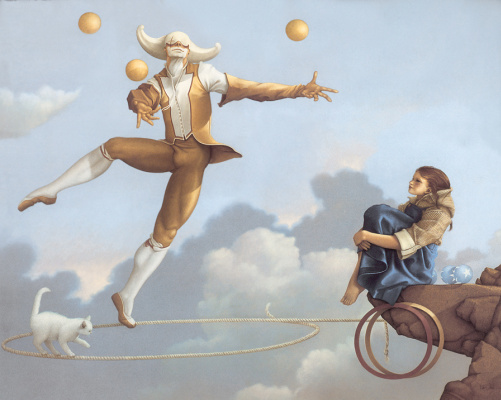 Michael Parkes. Juggling in the air