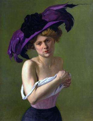 Felix Vallotton. Purple hat