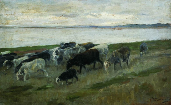 Alexey Stepanovich Stepanov. A flock of sheep