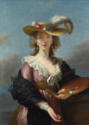 Elizabeth Vigee Le Brun. Self-portrait in a straw hat