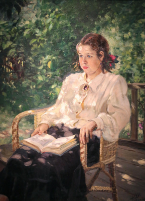 Alexander Mikhailovich Gerasimov. Portrait of a daughter. Private collection