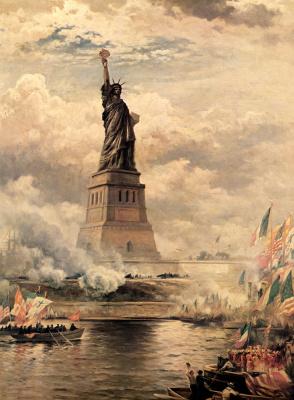 Эдвард Моран. Статуя Свободы, озаряющая мир