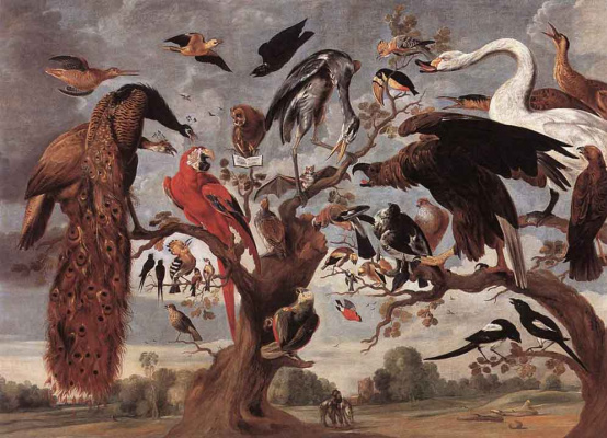 Jan van Kessel Elder. Mockery Of The Owl