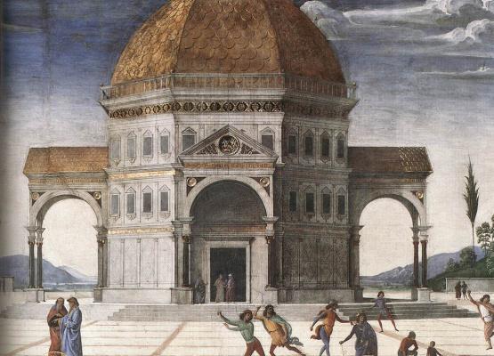 Pietro Perugino. Christ gives the keys to Peter Sveta