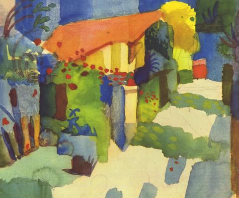 August Macke. Garden house