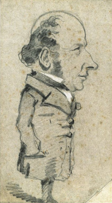 Claude Monet. Caricature Of Eugène Marcel