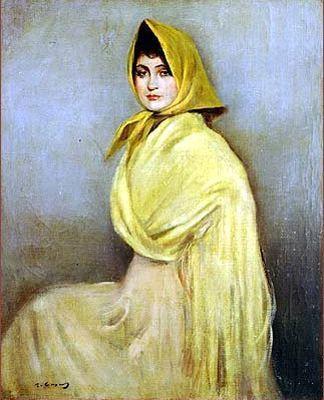 Ramon Casas i Carbó. Girl in yellow