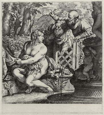 Annibale Carracci. The Bathing Susanna