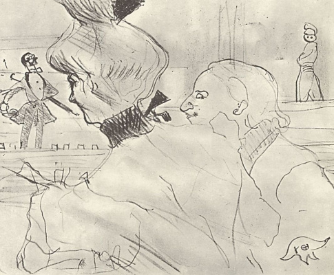 Henri de Toulouse-Lautrec. Couple in a cafe