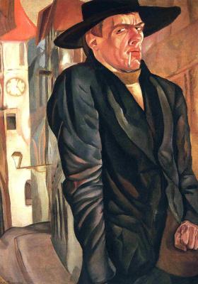 Борис Дмитриевич Григорьев. Автопортрет. 1916