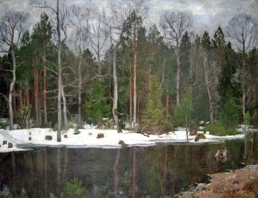 Stanislav Yulianovich Zhukovsky. Spring flood of the river Neman