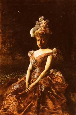 Ян ван Беерс. Портрет дамы в розовом платье