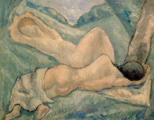 Arturo Souto. Nude under a tree