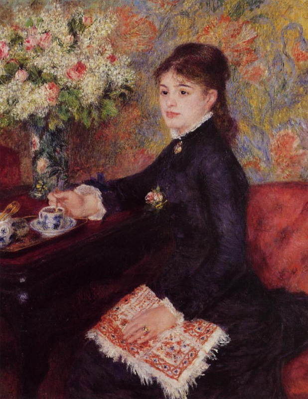 Pierre-Auguste Renoir. The Cup of chocolate