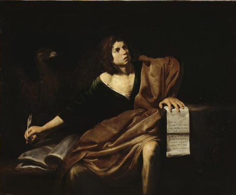 Valentin de Boulogne. The Apostle John The Theologian