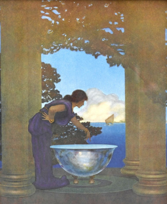 Maxfield Parrish. Circe in the palace