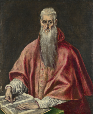 Domenico Theotokopoulos (El Greco). Saint Jerome as cardinal