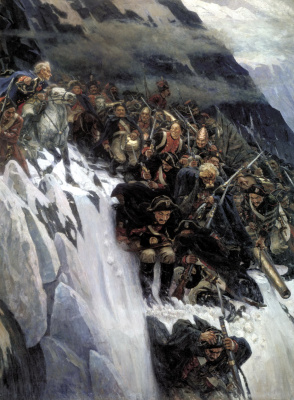 Vasily Ivanovich Surikov. Suvorov crossing the Alps in 1799